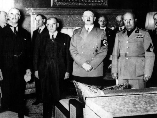 Мюнхенский договор, Чемберлен, Даладье, Гитлер, Муссолини, Чиано|Фото: