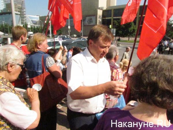 митинг у ЗакСО, оппозиционные партии, Максим Иванов|Фото:Накануне.RU