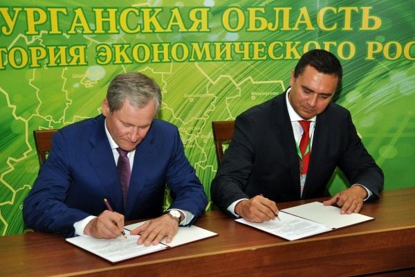 Алексей Кокорин Шадринский инвестфорум соглашение Фото: пресс-служба губернатора Курганской области