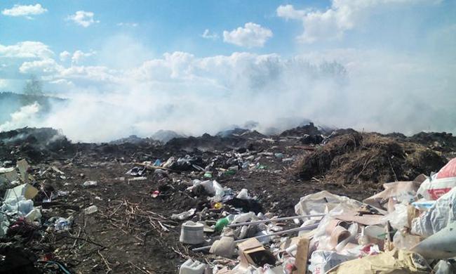 Пожар на тобольском полигоне ТБО|Фото: пресс-служба прокуратуры Тюменской области