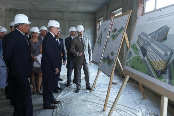 перинатальный центр, стройка, дубровский, редин|Фото:пресс-служба губернатора челябинской области