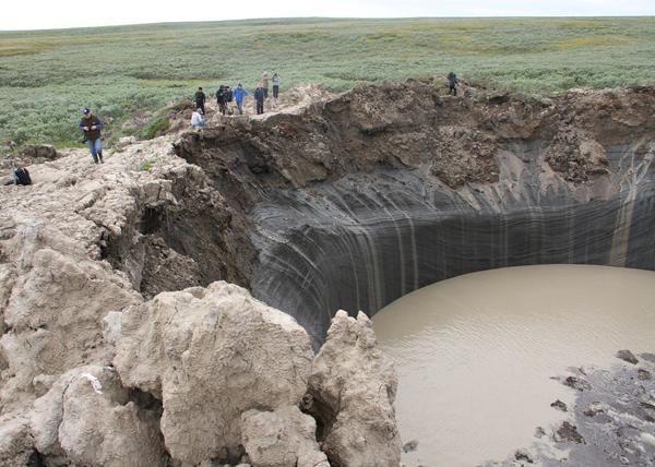 Экспедиция, воронка на Ямале|Фото: Пресс-служба губернатора ЯНАО