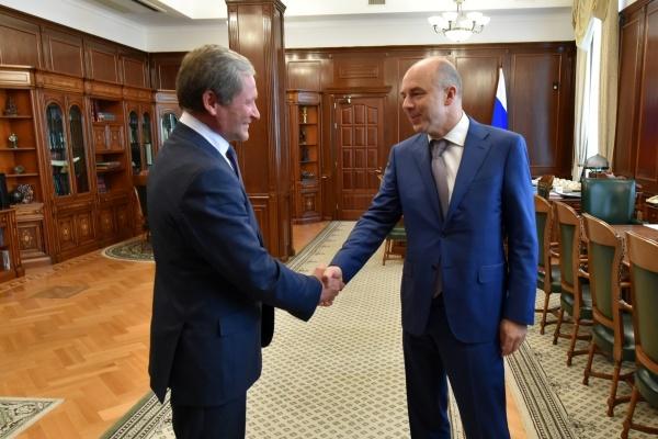 Алексей Кокорин Антон Силуанов|Фото: пресс-служба губернатора Курганской области