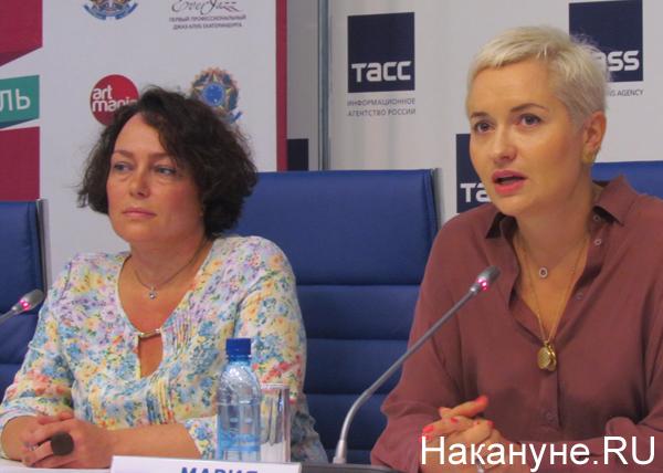 "пресс-конференция, фестиваль ""Усадьба Jazz"", Ирина Щетникова, Мария Семушкина|Фото: Накануне.RU"