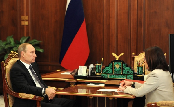 Владимир Путин, Эльвира Набиуллина Фото:kremlin.ru