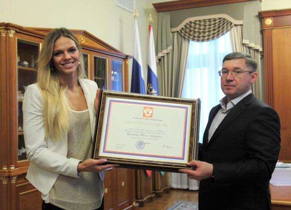 Юлия Ефимова, Владимир Якушев|Фото: правительство Тюменской области