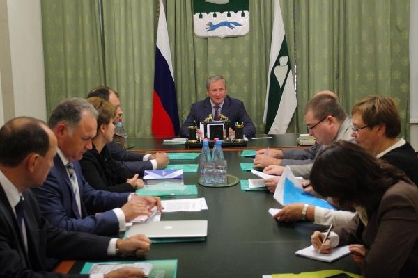 Алексей Кокорин совещание|Фото: пресс-служба губернатора Курганской области