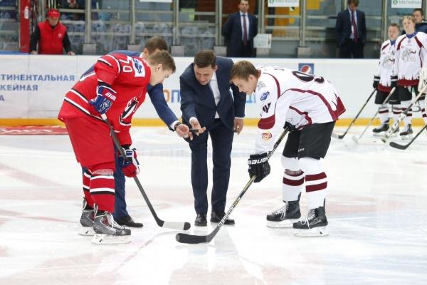Евгений Куйвашев, Кубок мира по хоккею(2015)|Фото: Департамент информационной политики губернатора
