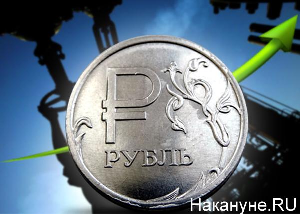 коллаж, рубль, нефть, рост|Фото: Накануне.RU