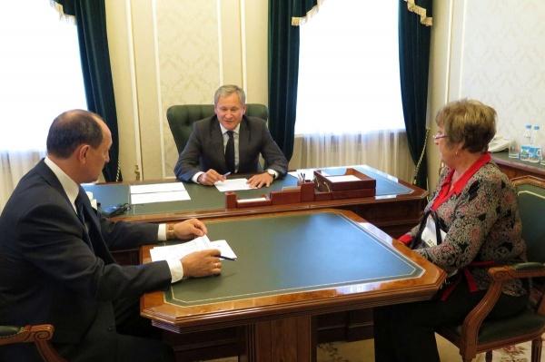 Алексей Кокорин прием по личным вопросам|Фото: пресс-служба губернатора Курганской области