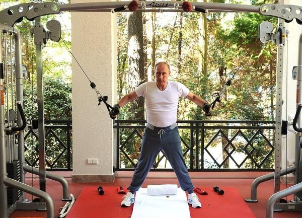 Тренировка, Владимир Путин и Дмитрий Медведев, Бочаров ручей|Фото: пресс-служба Кремля