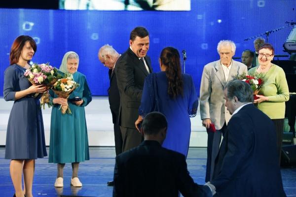 Евгений Куйвашев, День пенсионера|Фото: Департамент информационной политики губернатора
