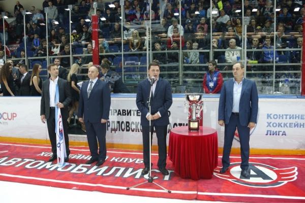 Евгений Куйвашев, Чемпионат по хоккею|Фото: Департамент информационной политики губернатора