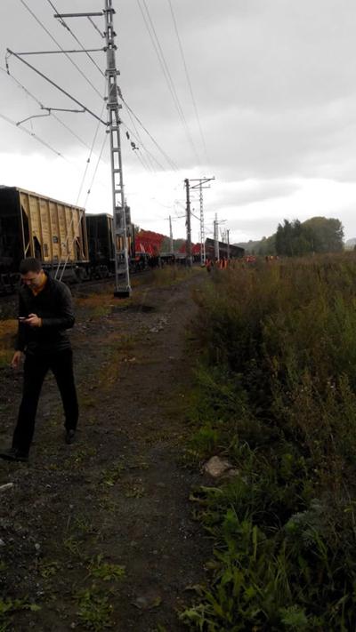 сход вагонов, сход поезда, белоярский, жд авария|Фото: пресс-служба МЧС России по Свердловской области