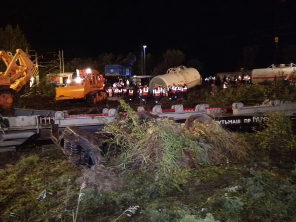сход вагонов, спасатели, сход поезда|Фото:ГУ МЧС России по СО