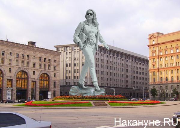 коллаж, Васильева, памятник, Москва, Лубянка, Дзержинский|Фото: Накануне.RU