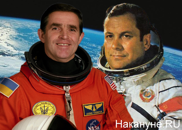 коллаж, Леонид Каденюк, Павел Попович, космонавты|Фото: Накануне.RU