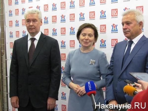 Собянин, Комарова, Алекперов Фото: Накануне.RU