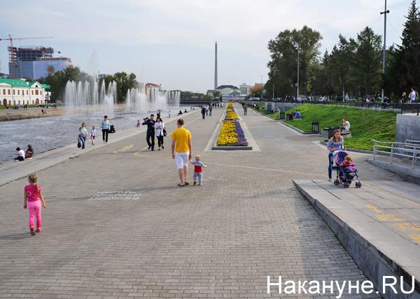 Екатеринбург, плотинка, люди|Фото: Накануне.RU