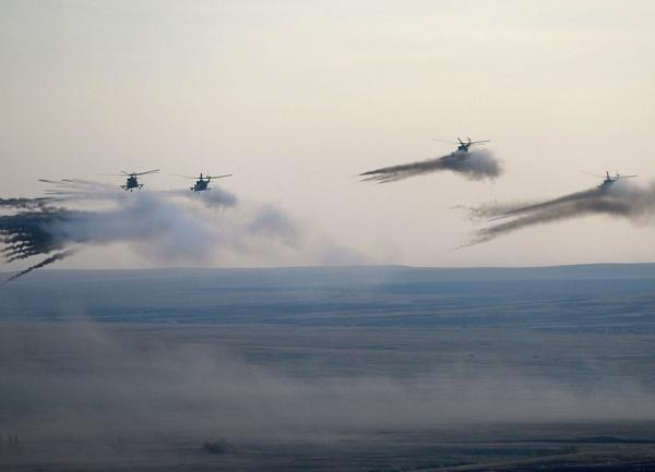 учения центр-2015, вертолеты|Фото:пресс-служба Кремля