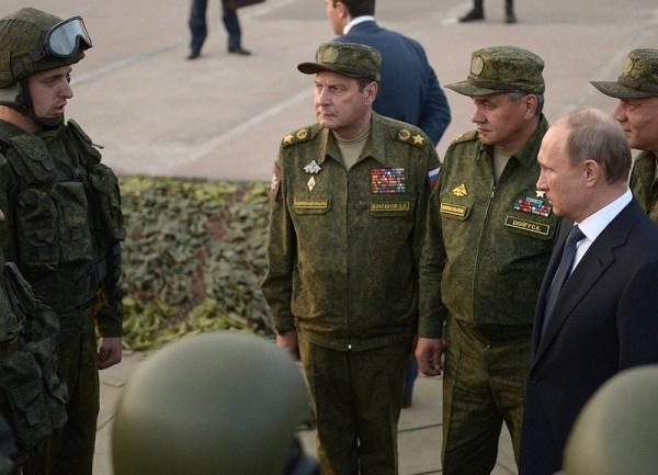 Владимир Путин, учения центр-2015, Сергей Шойгу Фото:пресс-служба Кремля