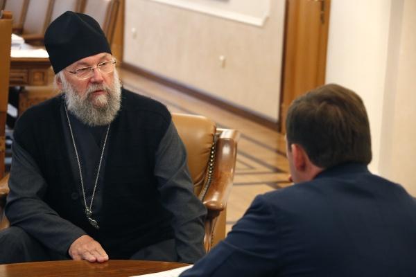 Евгений Куйвашев, епископ Иннокентий|Фото: Департамент информационной политики губернатора