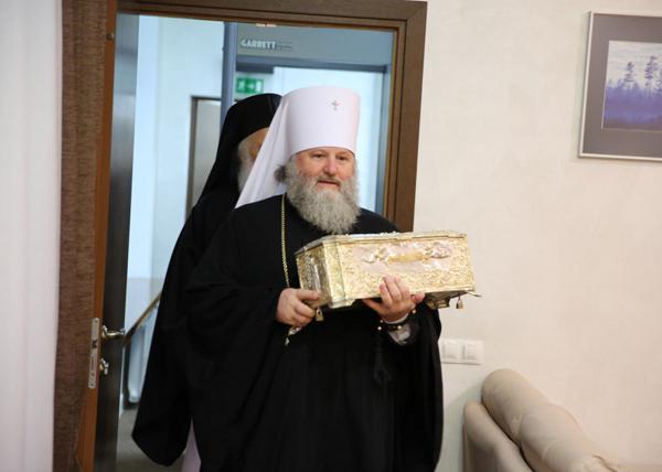 Мощи Димитрия Солунского в Югре|Фото: Пресс-служба Ханты-Мансийской митрополии