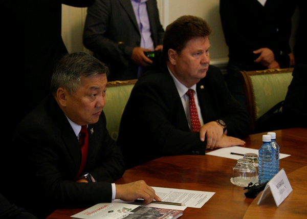 глава Хурала Монголии Зандаахуу Энхболд|Фото: Департамент информационной политики губернатора