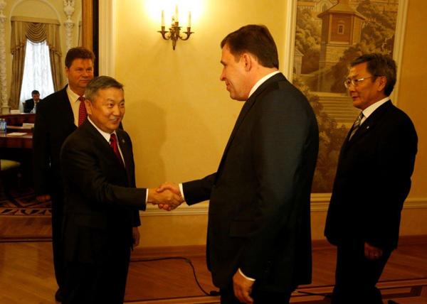 встреча Евгения Куйвашева с главой Хурала Монголии Зандаахуу Энхболд|Фото: Департамент информационной политики губернатора
