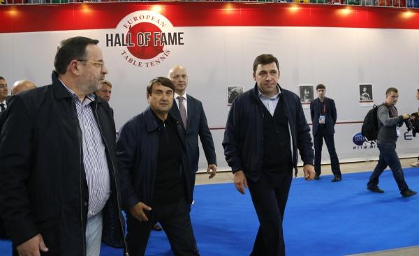 Евгений Куйвашев, Игорь Левитин, ЧЕ по настольному теннису|Фото: Департамент информационной политики губернатора