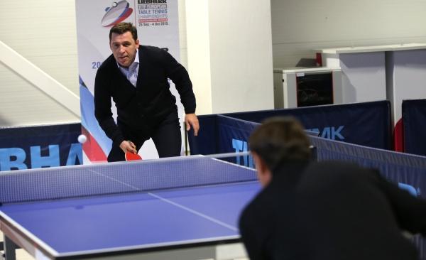 Евгений Куйвашев, ЧЕ по настольному теннису|Фото: Департамент информационной политики губернатора