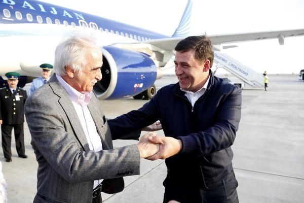 встреча азербайджанской делегации, Евгений Куйвашев|Фото: Департамент информационной политики губернатора