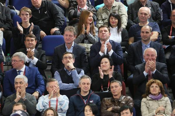 Евгений Куйвашев, Игорь Левитин, Чемпионат по настольному теннису|Фото: Департамент информационной политики губернатора