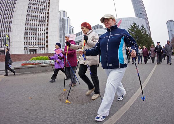 Всероссийский день ходьбы в Екатеринбурге|Фото: Департамент информационной политики губернатора