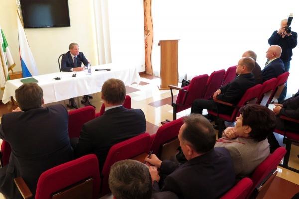 Совет глав городских округов и муниципальных районов Алексей Кокорин|Фото: пресс-служба губернатора Курганской области