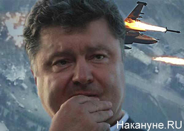 коллаж, Порошенко, Россия, ВВС, Сирия, авиаудары|Фото: Накануне.RU