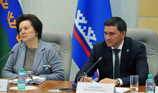 Наталья Комарова, Дмитрий Кобылкин|Фото: правительство.янао.рф