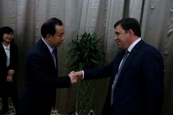Евгений Куйвашев, Лу Хао, Российско-китайское Экспо|Фото: Департамент информационной политики губернатора