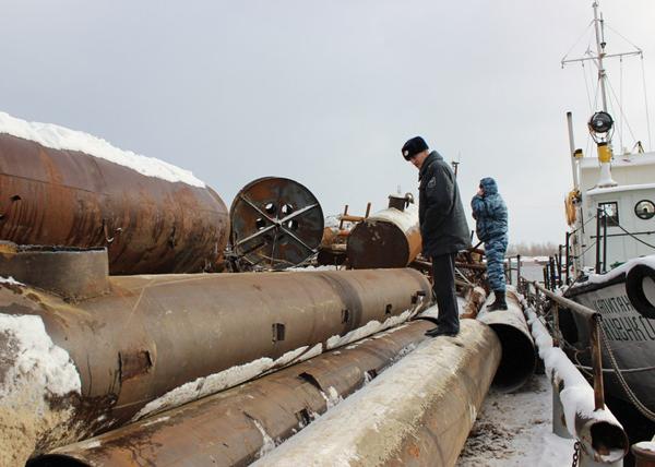 кража металлолома в ХМАО Фото: Пресс-служба полиции Югры