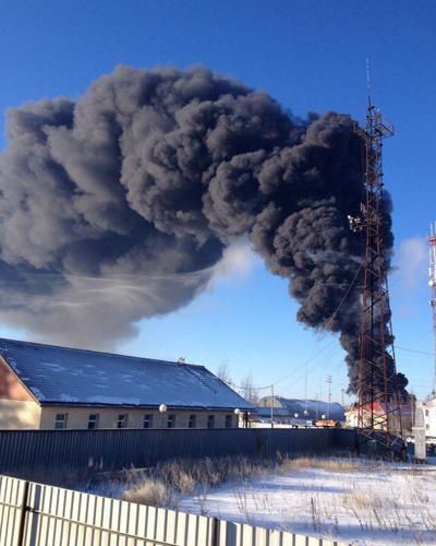 Приразломное месторождение, Нефтеюганск, пожар|Фото: vk.com