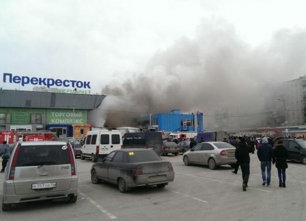 Пожар на Уралмашевском рынке|Фото:vk.com
