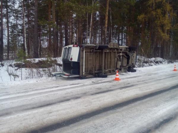 микроавтобус авария лес Фото: ГИБДД Свердловской области