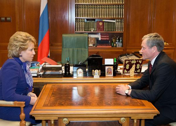 Валентина Матвинеко, Алексей Кокорин|Фото: Пресс-служба Совета Федерации
