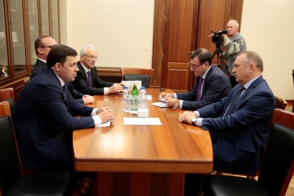 Евгений Куйвашев, Сергей Катырин Фото: Департамент информационной политики губернатора