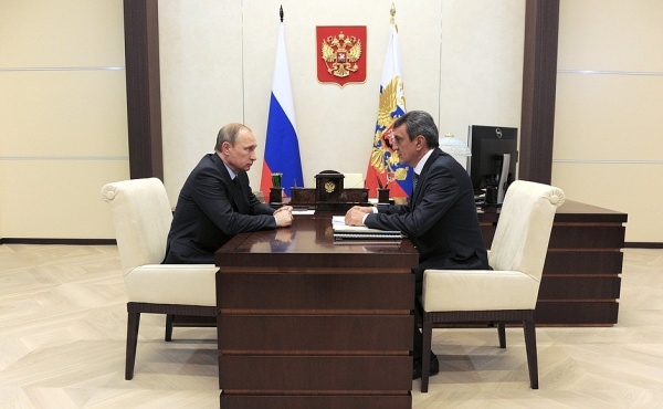 Владимир Путин, Сергей Меняйло|Фото:kremlin.ru