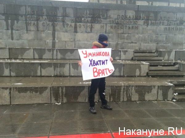 пикет, Умникова|Фото: Накануне.RU