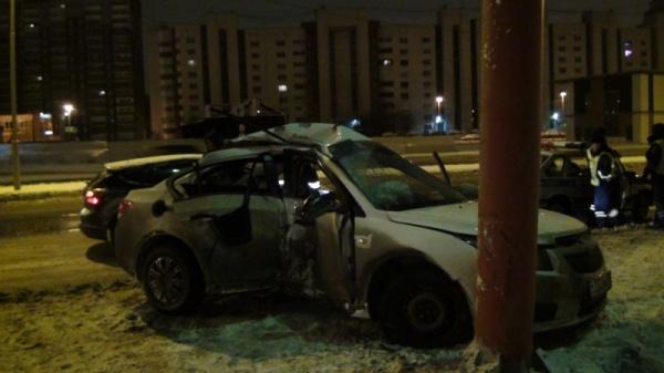 авария опора Екатеринбург|Фото: ГИБДД Екатеринбурга