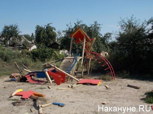 Пантелеймоновка, Донбасс, обстрел, ДНР, детская площадка|Фото: Накануне.RU
