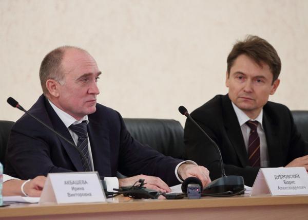 Борис Дубровский, и.о. главы Миасса Геннадий Васьков|Фото: пресс-служба губернатора Челябинской области