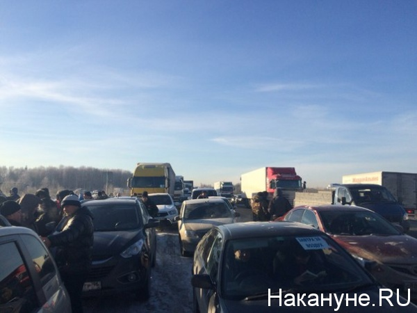 дальнобойщики Платон протест Кольцовский тракт Екатеринбург|Фото: Накануне.RU